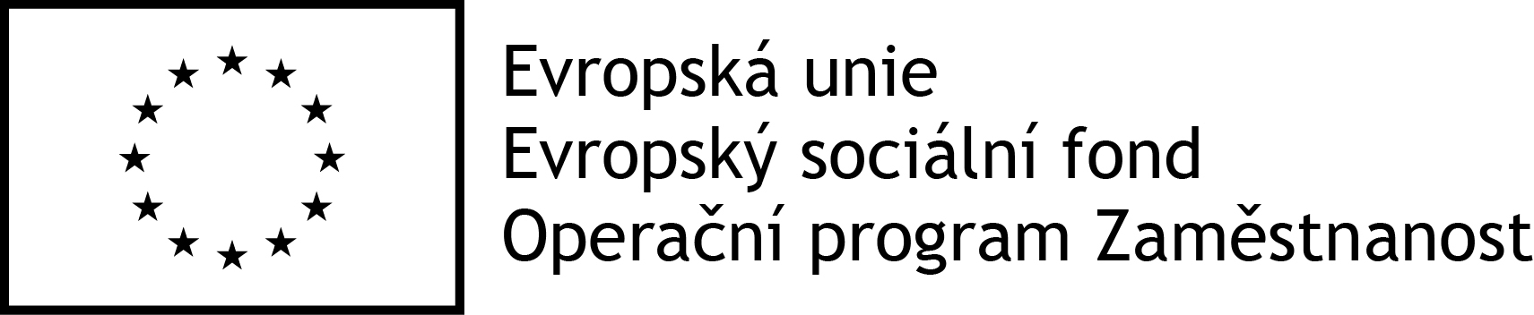 Logo OPZ černobílé