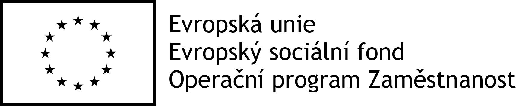 Logo OPZ černobílé